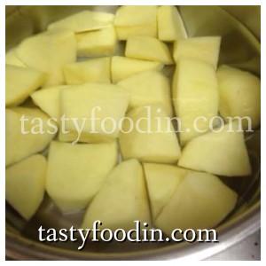 نسلق البطاطس