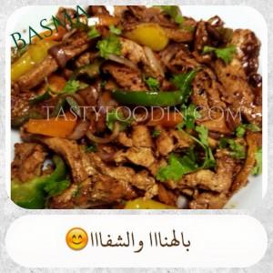 فاهيتا الدجاج بدبس الرمان