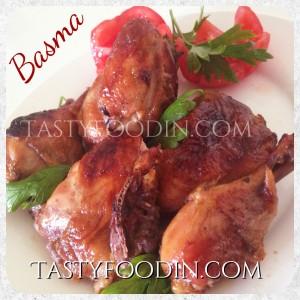 فراخ دجاج بصوص الباربيكيو بالفرن